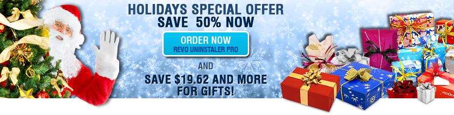 Holidays Special Offer Revo Uninstaller Pro -50% OFF