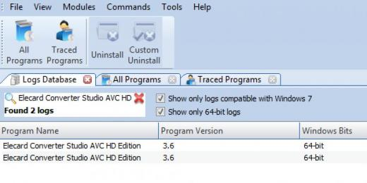 Find Elecard Converter Studio AVC HD Edition in Logs Database List