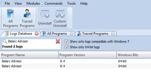 Revo Uninstaller Pro - Uninstall programs using Logs Database