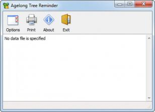 Agelong Tree Reminder main screen